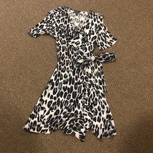 Cheetah print wrap dress
